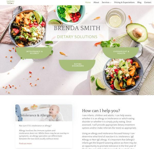 dietician website Sevenoaks Kent