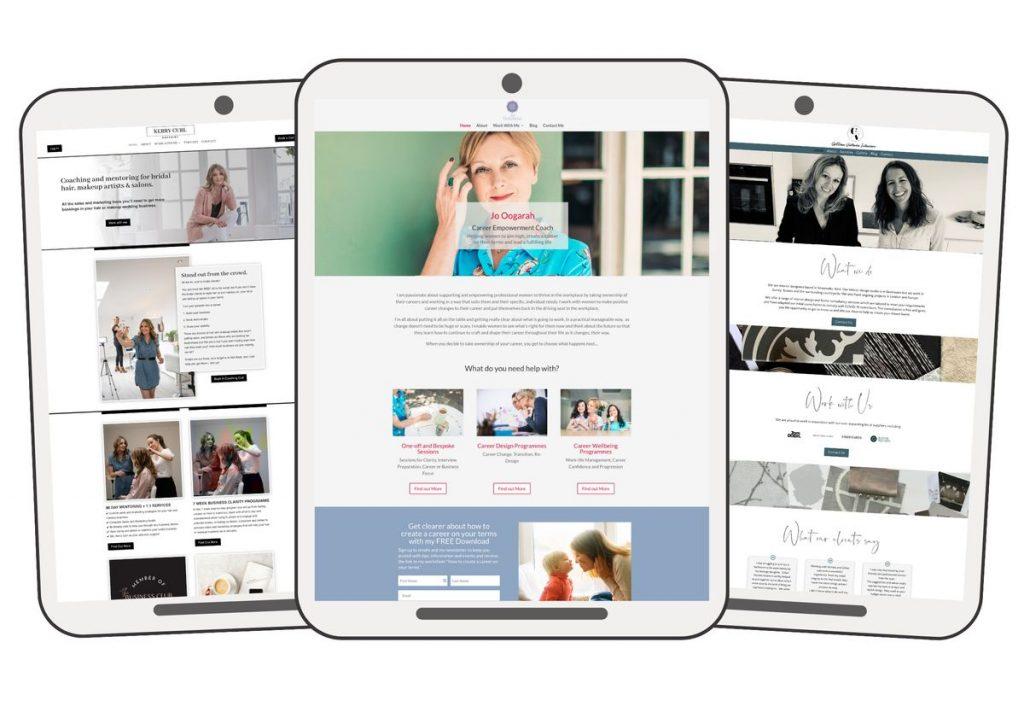 website homepage portfolio